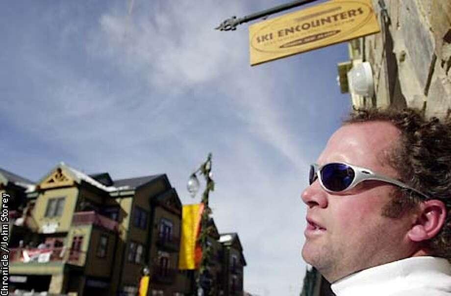SLCMOOD-C-07JAN01-MN-JRS-Stories about Salt Lake City before the Olympics. Buzz Greenberg talks about the Olympics in front of his store in Park City. Chronicle Photo by John Storey. Photo: John Storey