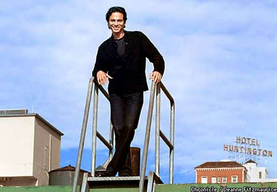 Actor Benjamin Bratt is in a new film about a junkie in New York. He is on the roof of the Prescott Hotel in San Francisco.  CHRONICLE PHOTO BY DEANNE FITZMAURICE Photo: DEANNE FITZMAURICE