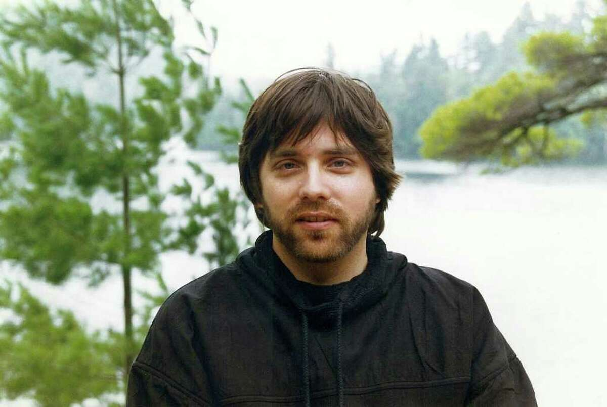 Keith Raniere in the early 1990s at Pyramid Lake in the Adirondack Mountains.