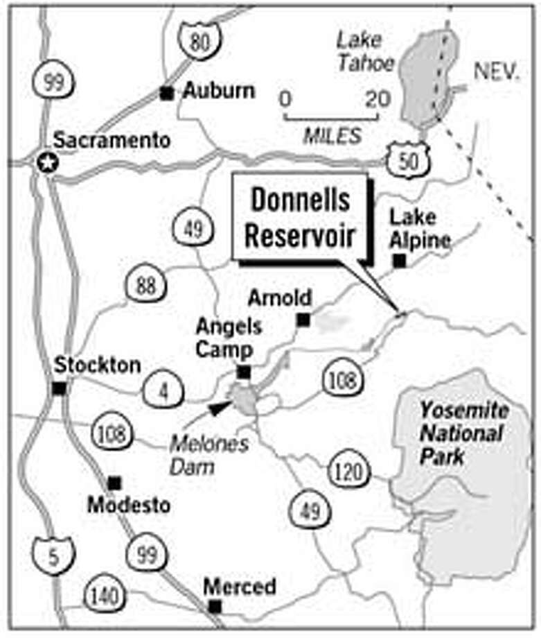 Donnells Reservoir. Chronicle Graphic