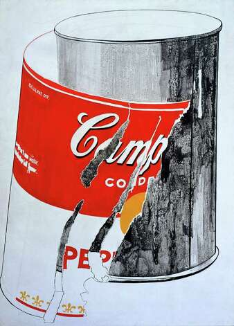 "Andy Warhol's ""Big Torn Campbell's Soup Can (Pepper Pot),"" (1962, casein and graphite on canvas) is featured in ""Andy Warhol: Fame and Misfortune"" at the McNay Art Museum. Photo: Courtesy Andy Warhol Museum"
