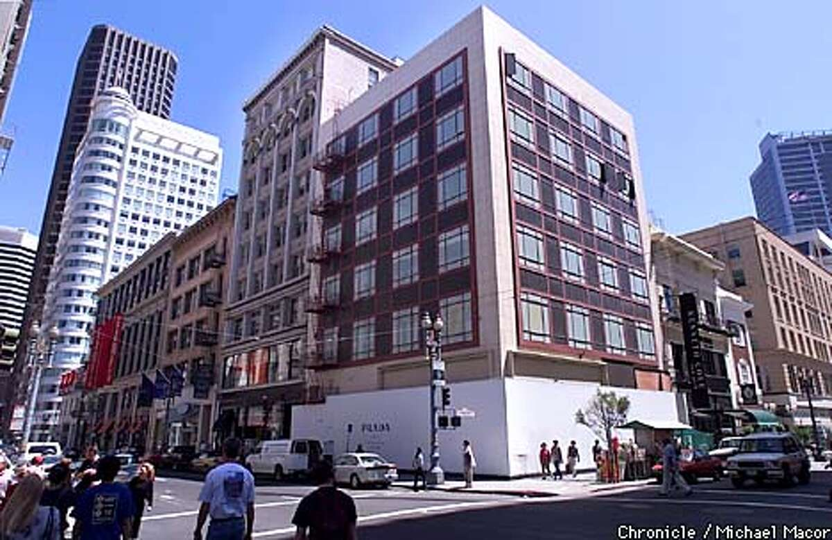 Proposed location at the corner of Post and Grant Streets, of the Prada Building in downtown San Francisco. by Michael Macor/THe Chronicle