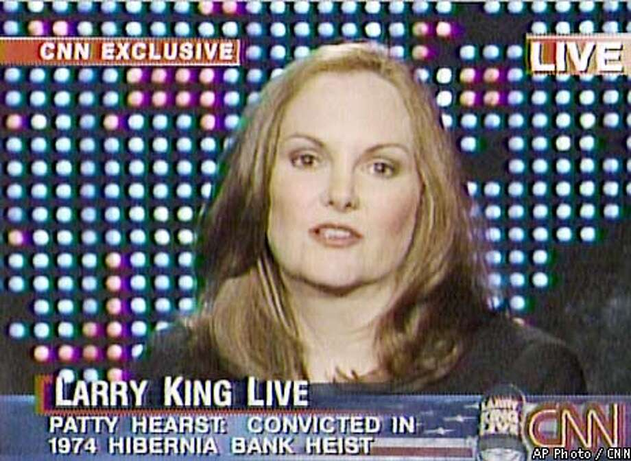 Patricia Hearst is seen on CNN's Larry King Live talk show in this image from television, Tuesday, Jan. 22, 2002. Hearst was allegedly kidnapped by the Symbionese Liberation Army and later joined them in several bank robberies three decades ago. Hearst is believed to be the only former SLA member still alive who can implicate the four recently arrested members of the SLA in a 1975 bank robbery that left a customer dead in Carmichael, Calif. (AP Photo/CNN)