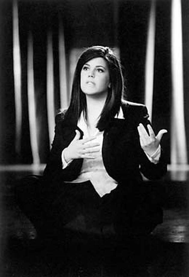 "Images Available For: ""Monica in Black and White"" on HBO. Monica Lewinsky returns for HBO. HANDOUT."