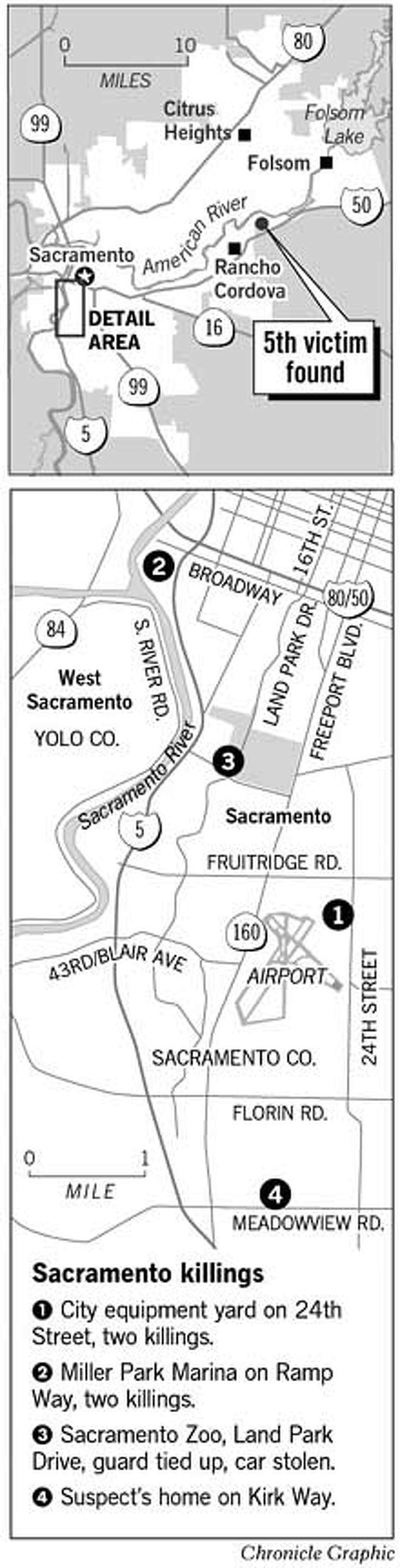 Sacramento killings. Chronicle Graphic