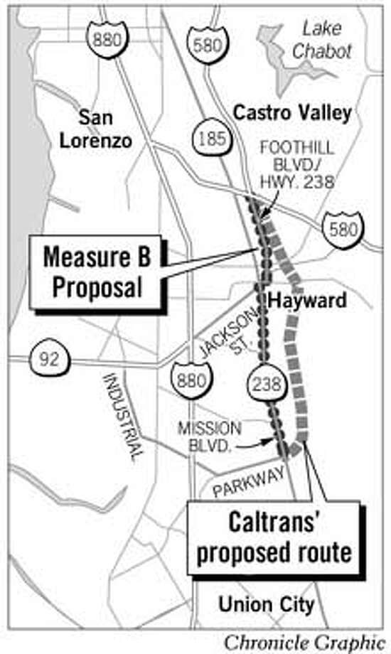 Freeway Bypass Proposals. Chronicle Graphic