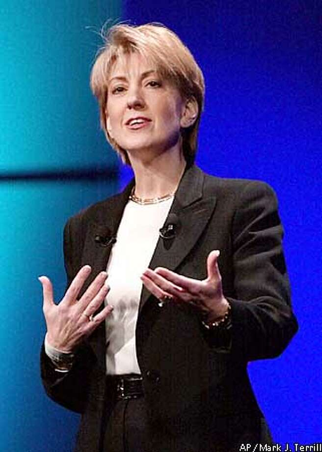 Carly Fiorina, chairman, president and chief executive officer of Hewlett-Packard, speaks during her keynote address at , Monday, Nov. 13, 2000, in Las Vegas. (AP Photo/Mark J. Terrill) ALSO RAN 6/7/2001, 7/1/2001, 7/27/2001 Photo: MARK J. TERRILL