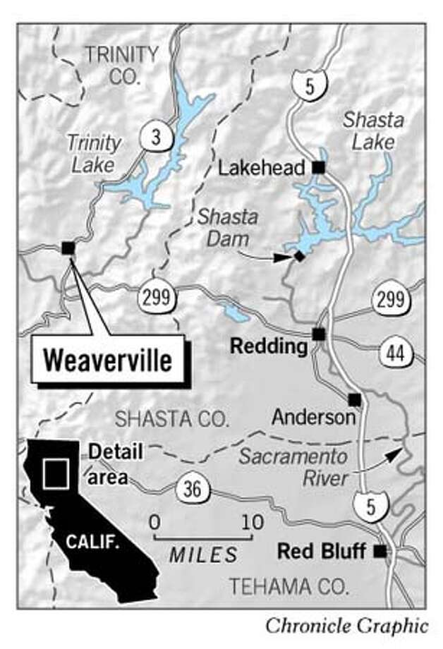 Weaverville Map. Chronicle Graphic
