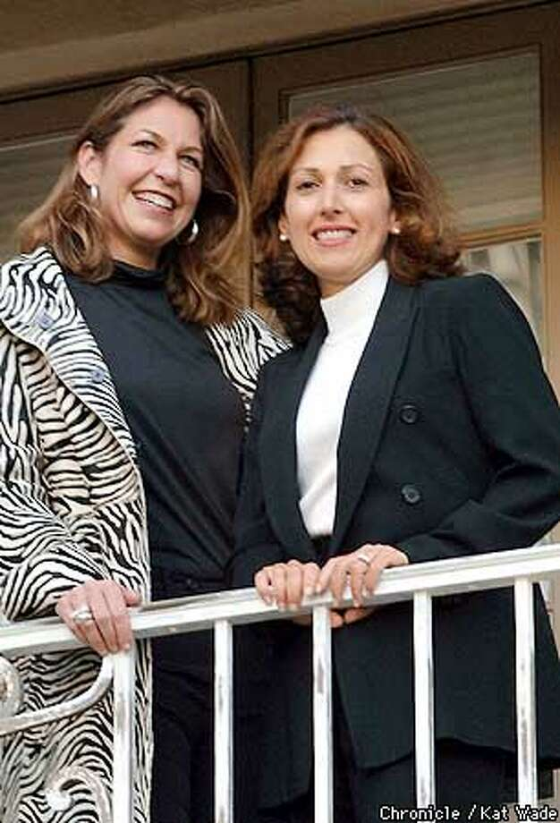 """Denise LaPointe and Julie Kulhanjian Strauch(CQ) (JULIE prefers to use both her last name AND her husbands without a hyphen) who co-chaired the committee that raised 1 million dollars in the Armenian-American community to support the production of the Opera """"Arshak II"""" pose for a portrait at the Piedmont home of Kulhanjian Strauch. SAN FRANCISCO CHRONICLE PHOTO BY KAT WADE Photo: KAT WADE"""