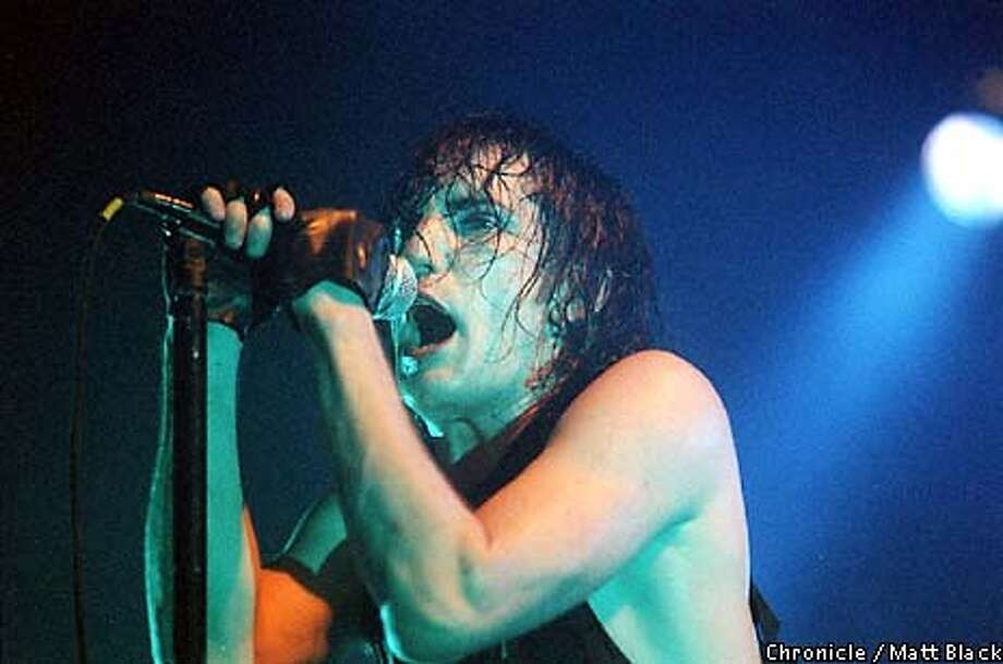 TRENT REZNOR PERFORMING AT THE SAN JOSE EVENT CENTER. PHOTO BY MATT BLACK/CHRON 10/02/94