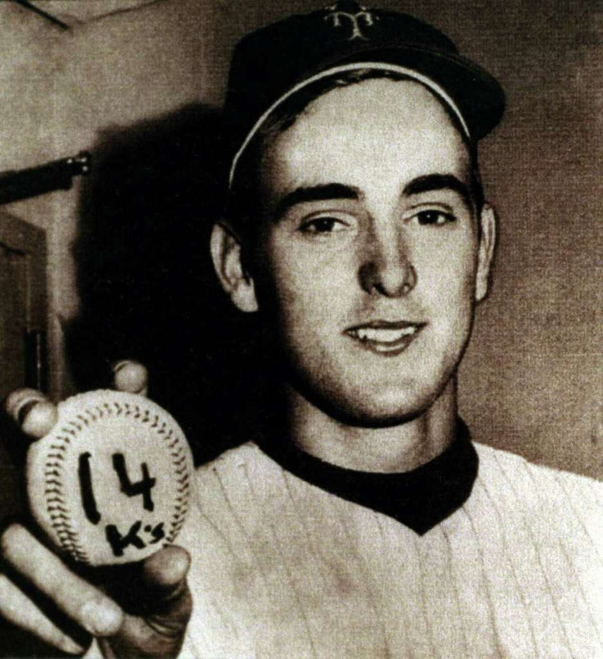 This photo of Nolan Ryan holding the baseball when he set the Mets team record with 14 strikeouts against the Reds in 1968 is among the items that will be on display at the Texas Sports Hall of Fame in Waco beginning March 21. Click through the gallery to see more photos from the Nolan Ryan Museum.