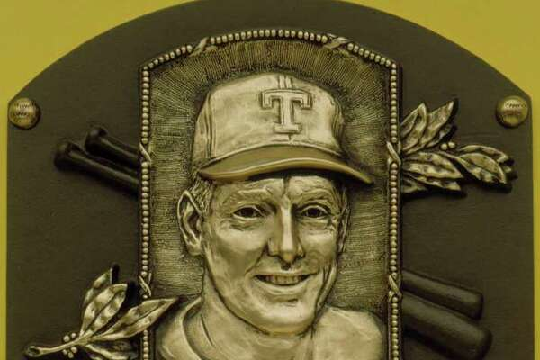 The Hall of Fame plaque for Nolan Ryan is shown in this handout photo. Ryan was inducted into the National Baseball Hall of Fame in Cooperstown, N.Y., on Sunday, July 25, 1999