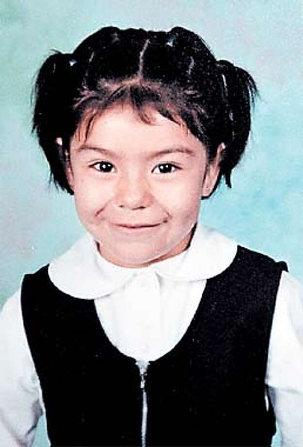 This is a family handout photo of five-year-old Ana Karen Cerna. Cerna, a victim of a hit and run Tuesday morning in Oakland, Calif., was taken off life support at Children's Hospital in Oakland on Wednesday afternoon, Jan. 16, 2002, and died soon after. Osvaldo Urzua, 41, of Oakland, was arrested Wednesday evening at about the same time the 5-year-old girl died. Among the charges police were considering against Urzua were one count of vehicular manslaughter, six counts of felony hit and run, and several lesser charges. (AP Photo/Oakland Tribune, ho)