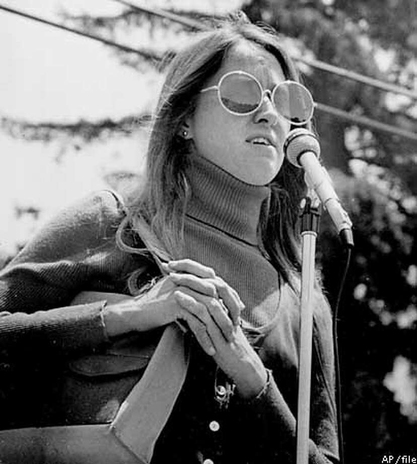 Kathy Soliah is shown in this June 2, 1974 photo speaking at the Angel Atwood Memorial held in Ho Chi Minh Park, in Berkeley, Calif. Soliah, a long-sought member of the Symbionese Liberation Army was arrested Wednesday, June 16, 1999, 25 years after the terrorist group kidnapped newspaper heiress Patty Hearst and most of its members died in a shootout, the FBI said. ( AP Photo/file )