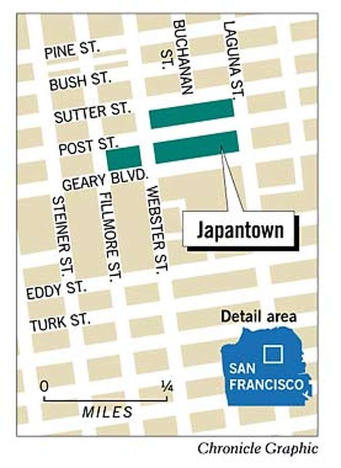Japantown. Chronicle Graphic Photo: Bill Smith