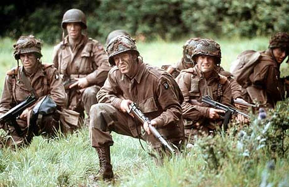 Damian Lewis, center front, stars in the HBO series Band of Brothers. David james/HBO.