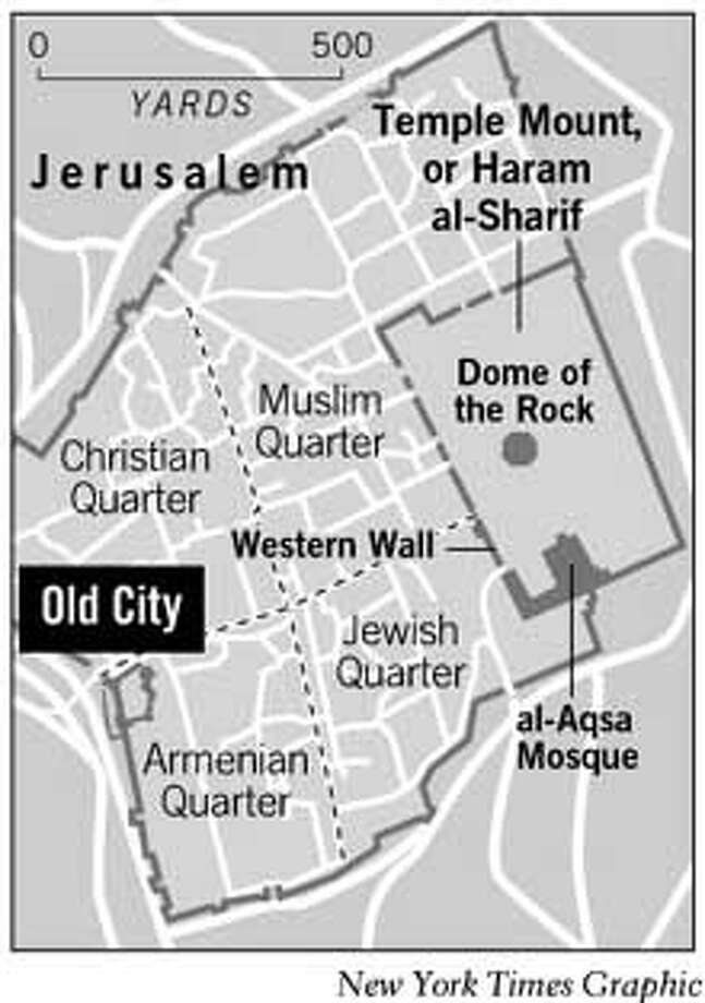 Temple Mount Reopened. New York Times Graphic