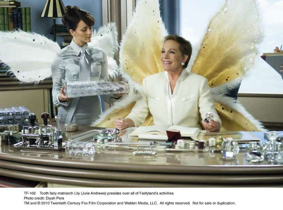 TF-102R    Tooth fairy matriarch Lily (Julie Andrews) presides over all of Fairlyland's activities. Photo: Diyah Pera / handout