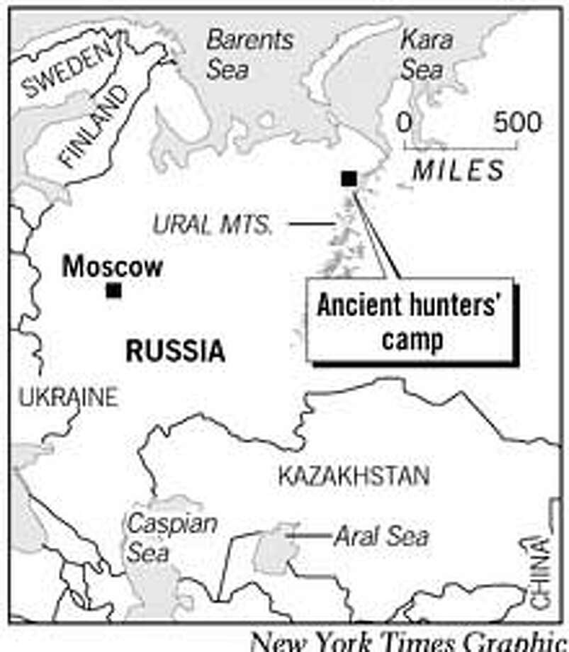 Ancient Hunters' Camp. New York Times Graphic
