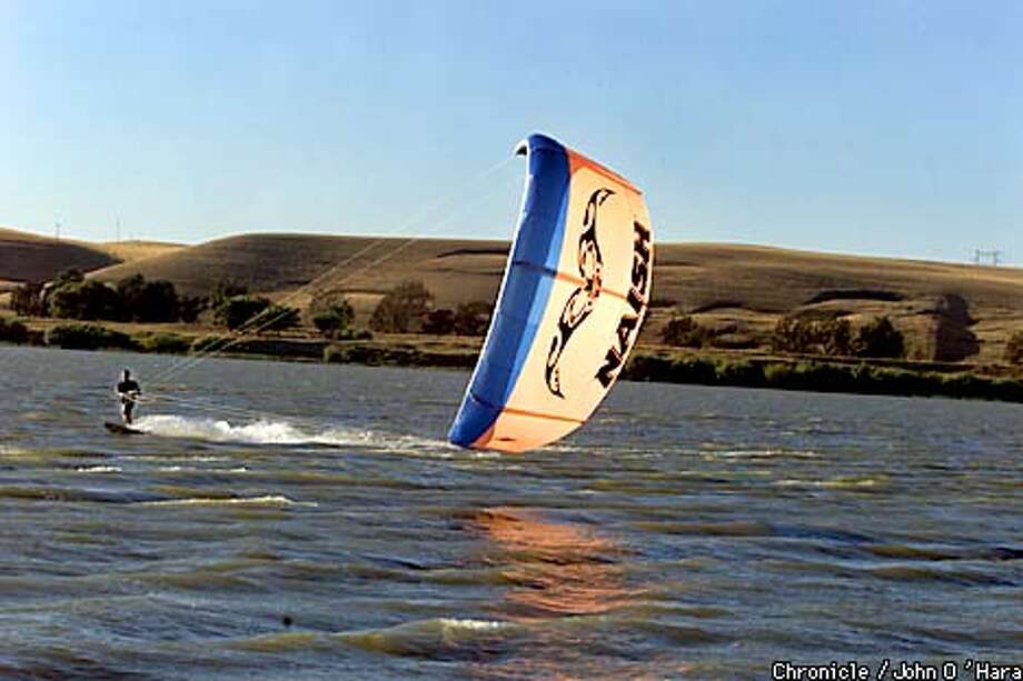 "Sherman Island, Antioch,CA  ""Bruce Sheldon Spradley"" of Sheldon Sails, tacking against the wind and current. The sail a ""Nash "" a 15.5  Photo/John O'Hara Photo: John O'Hara"