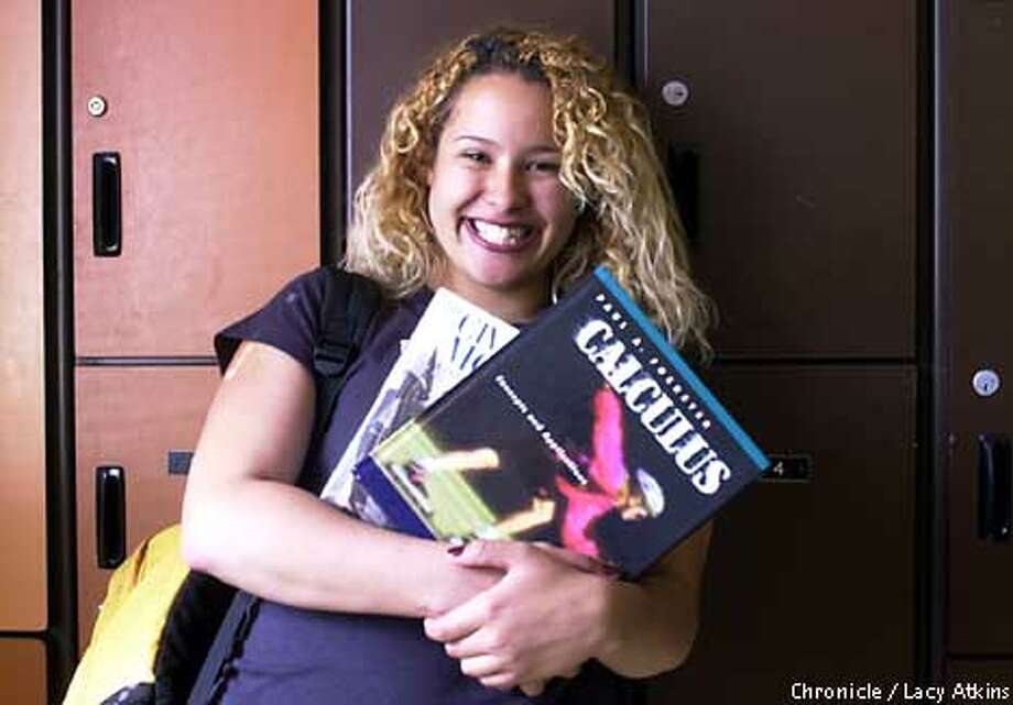 Erika Goncalves, a senor at Gateway High School in the Sunset District, was appointed by Governor Davis, Wed. Sept. 5,01, at a Student Board Member. Photo By Lacy Atkins/SanFrancisco Chronicle Photo: Lacy Atkins