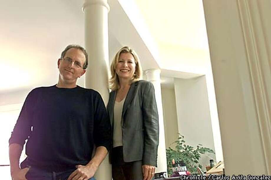Jef (one f) Loeb (CQ) and his wife, Deborah Notestein, are a prime example of a major trend in the advertising industry: They have left tranditional ad agencies and are freelancing. Their company, Brainchild Creative, is one of a growing number of freelance operations, most of them caused by job losses due to the economic downturn. They now work out of their home in San Francisco, Ca. (Photo by Carlos Avila Gonzalez/The San Francisco Chronicle) Photo: CARLOS AVILA GONZALEZ
