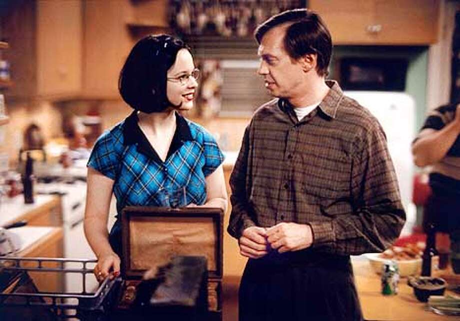 GHOST WORLD. Thora Birch and Steve Buscemi.