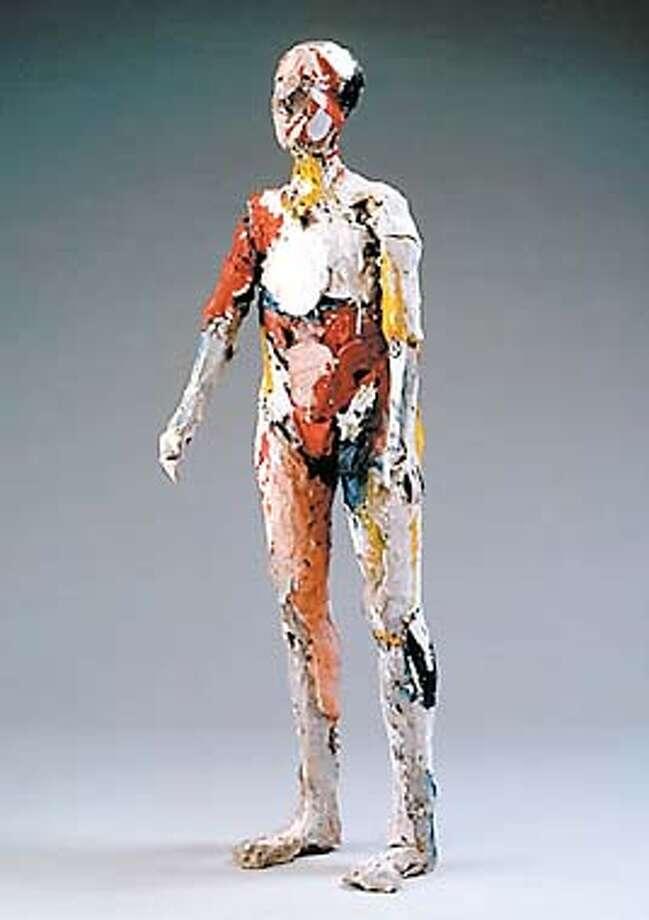 """Hackett-Freedman Gallery Manuel Neri """"Hombre Colorado"""" HANDOUT."""