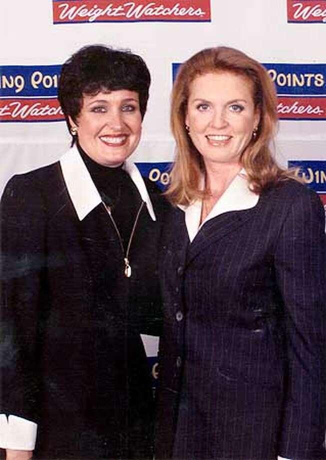 MARY ANN BENEDITTI AND SARAH FERGUSON IN JANUARY Photo: CCMARY24-C-20AUG01-CF-HO