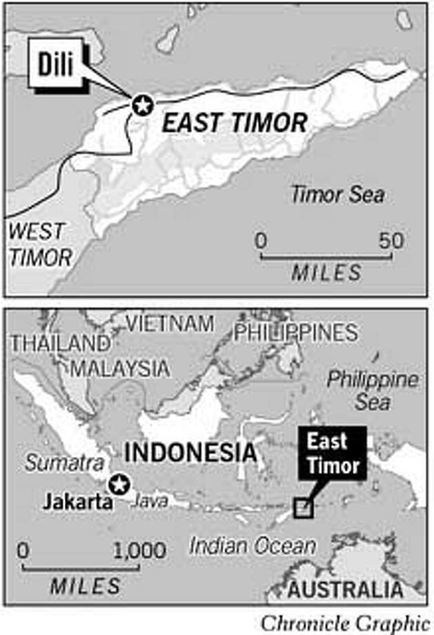 East Timor. Chronicle Graphic