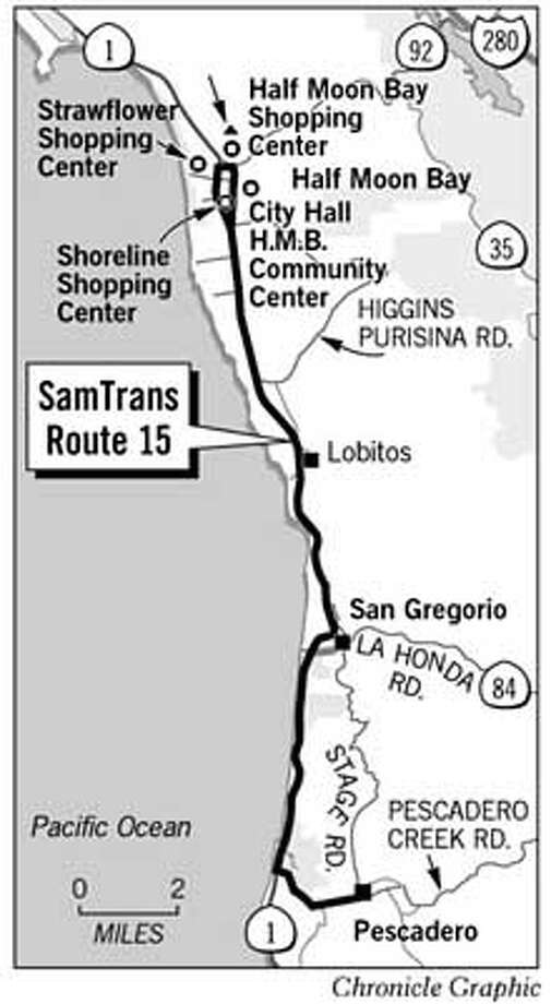 Sam Trans Route 15. Chronicle Graphic