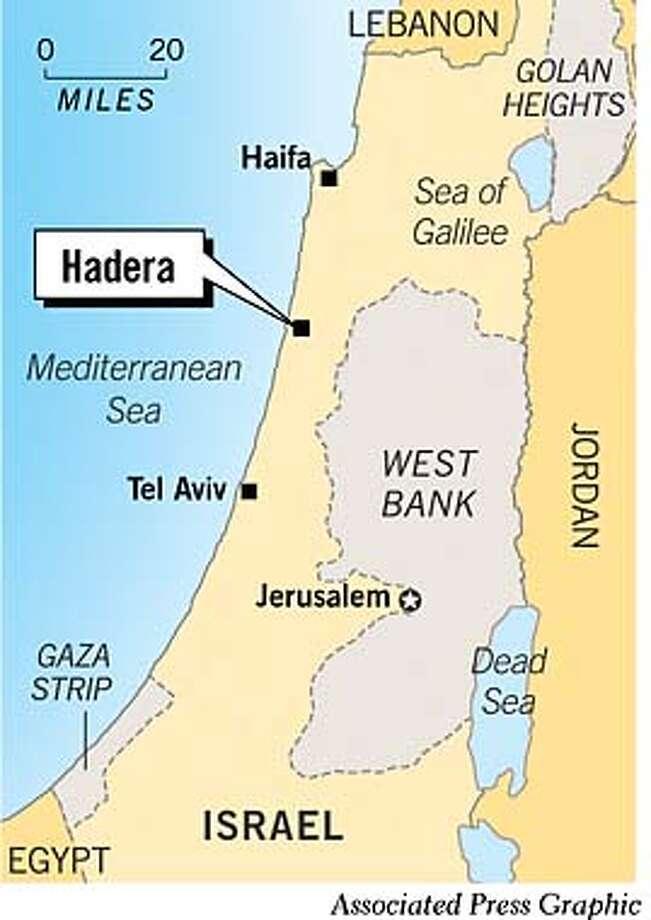 Hadera. Associated Press Graphic