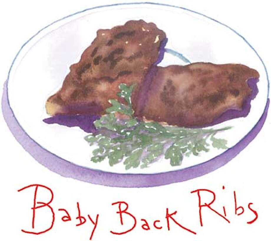 Baby Back Ribs. Chronicle illustration by Tom Murray