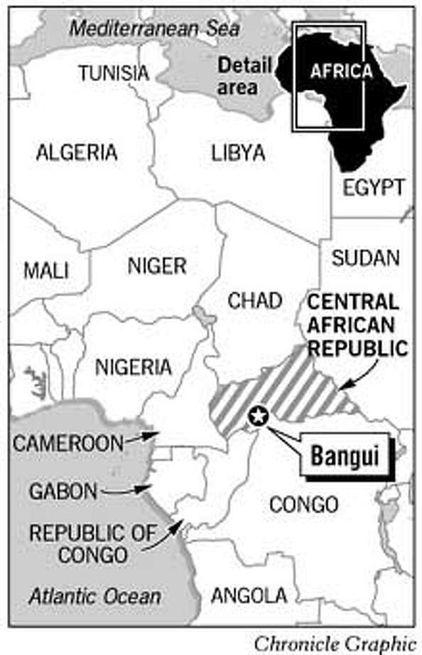 Bangui, Central African Republic. Chronicle Graphic