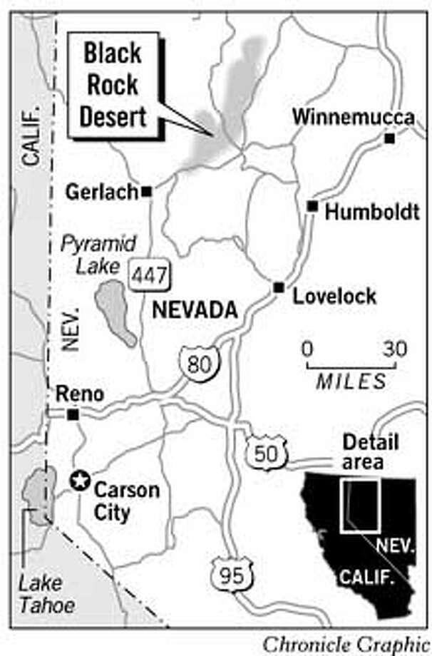 Black Rock Desert. Chronicle Graphic