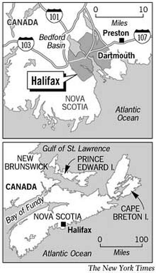 Nova Scotia. New York Times Graphic