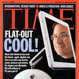 Apple CEO Steve Jobs appeard on the cover of Time magazine in 2002.