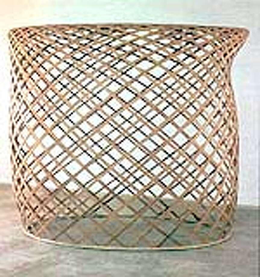"Martin Puryear's ""Brunhilda,"" 1998-2000, cedar and rattan."