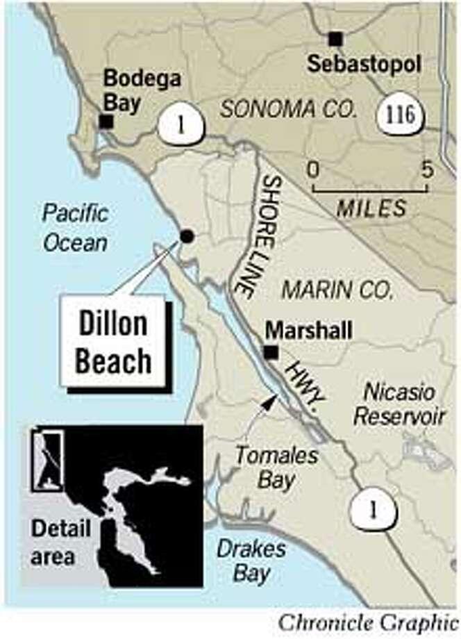 Dillon Beach. Chronicle Graphic