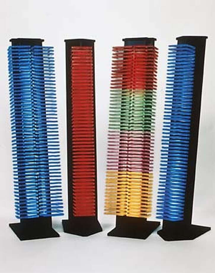 Neon CD-Towers. Photo Credit: Courtesy VOS Systems. Photo: HANDOUT