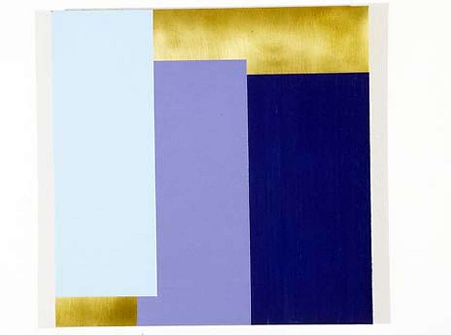 Marco Caseatini  The Sweet Light2  alkyd on brass  12 1/8 x 12 1/4 in  HANDOUT.
