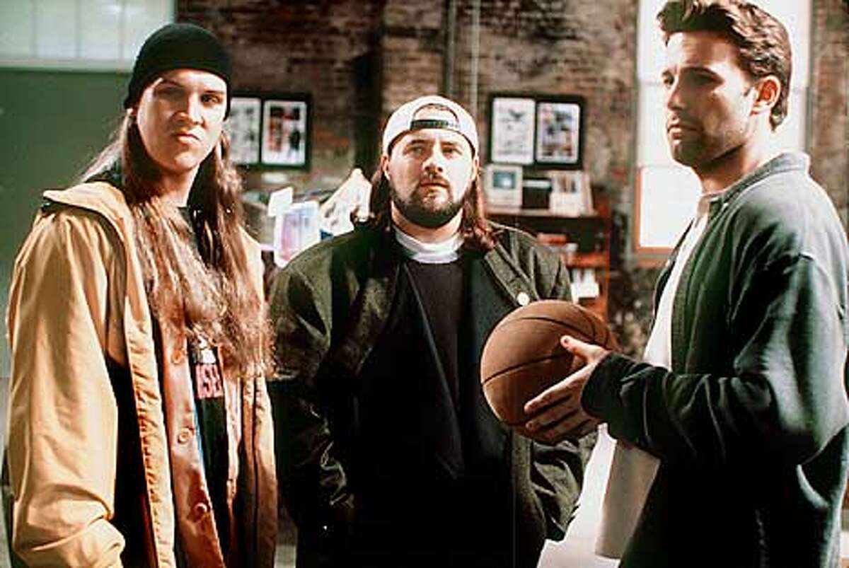 Jason Mewes, Kevin Smith, and Ben Affleck in Kevin Smith's Jay and Silent Bob Strike Back.