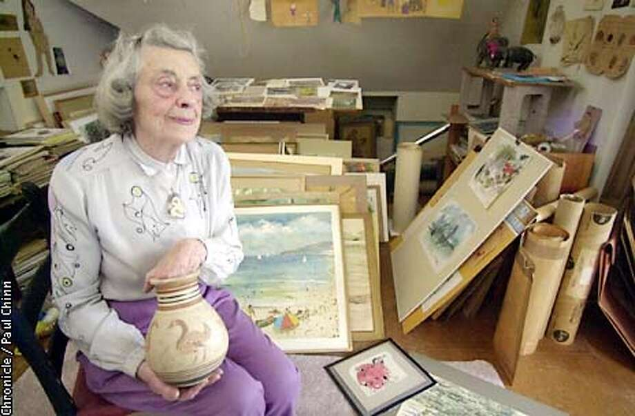 Artist Helen Ludwig displayed a lifetime of work in the studio of her San Francisco home.  PAUL CHINN/S.F. CHRONICLE Photo: PAUL CHINN