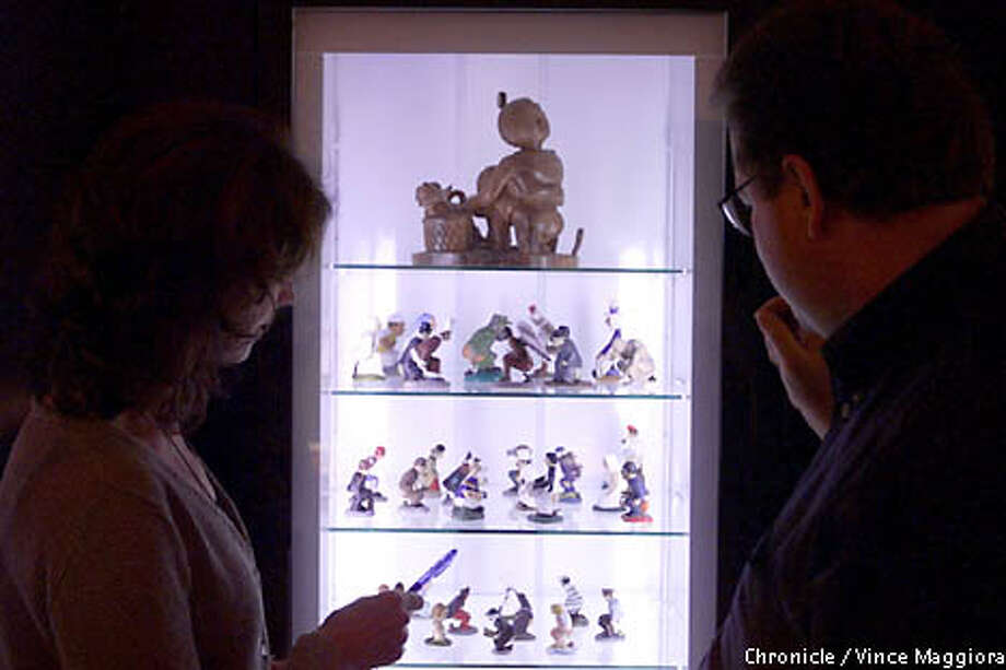 "Exhibit of figurines by the spanish artist Antoni Miralda's exposition ""Poetical Gut"" at Copia in Napa  by Vince Maggiora Photo: VINCE MAGGIORA"