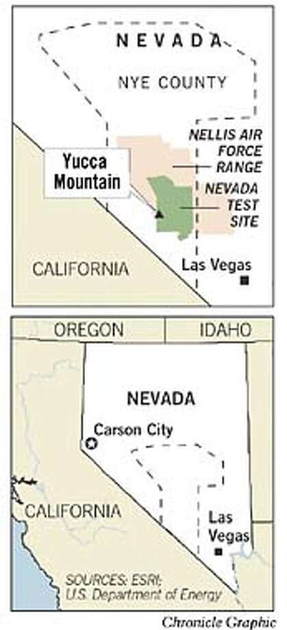 Yucca Mountain. Chronicle Graphic