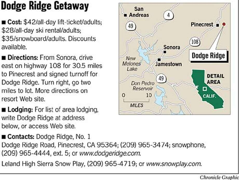 Dodge Ridge Getaway. Chronicle Graphic
