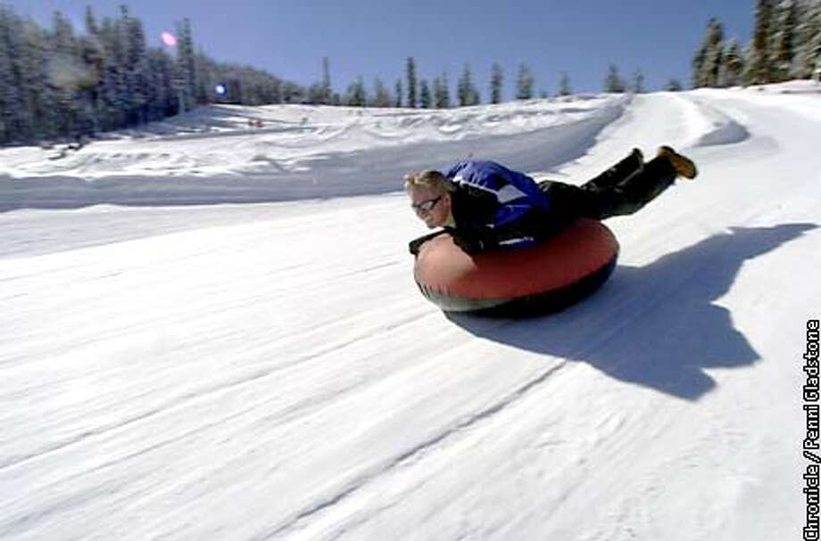 Fun in the sun while TUBING AT SIERRA-AT-TAHOE. You CAN GET a ticket for 2 hours or all day. No idents.  PHOTOGRAPHY BY PENNI GLADSTONE Photo: PENNI GLADSTONE