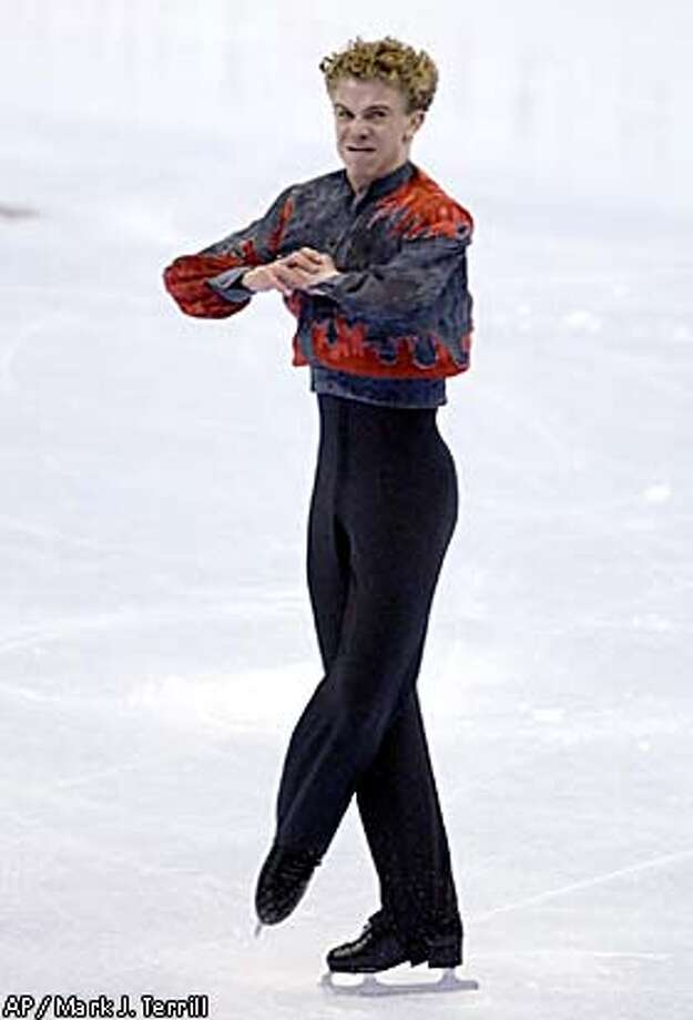 Timothy Goebel is expected to land one of the three U.S. spots in the Olympics after tonight's men's free skate (8 p.m., taped, Channels 7, 10). Associated Press