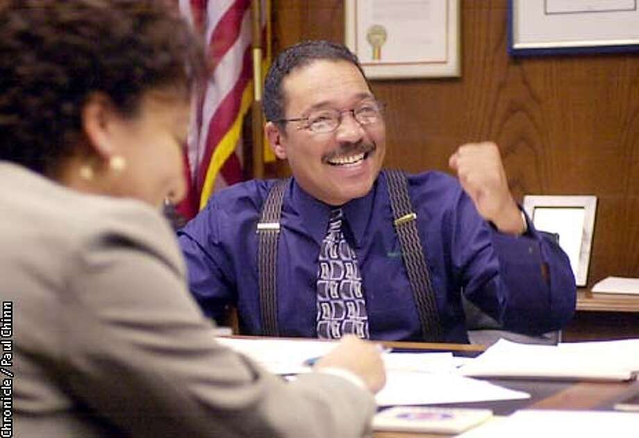 Assemblyman Herb Wesson discussed his upcoming schedule with assistant Karon Caple in his Capitol office. Wesson will become Speaker of the House in January.  PAUL CHINN/S.F. CHRONICLE Photo: PAUL CHINN