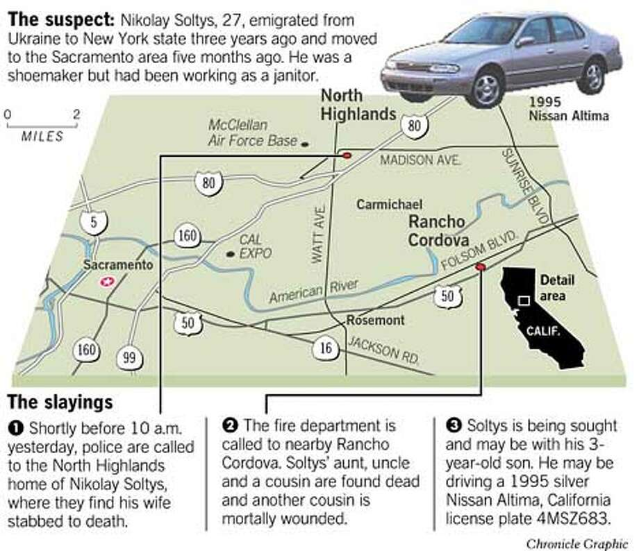 The Suspect, The Slayings. Chronicle Graphic